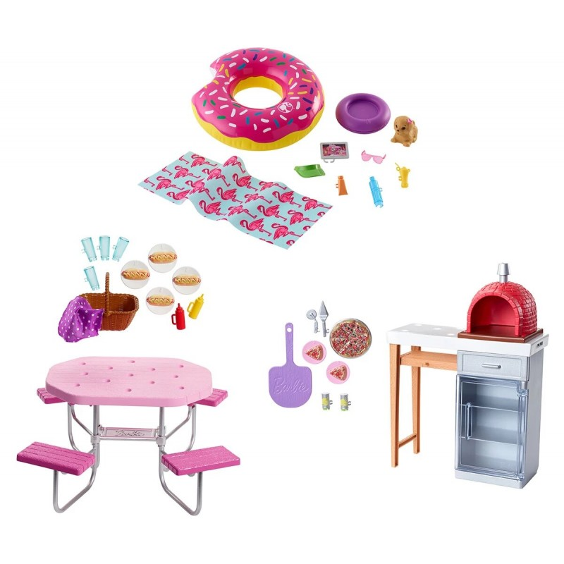 Кукла Barbie - Игрален комплект мебели за градината, асортимент 1710125 на супер цена 19.90 лв.