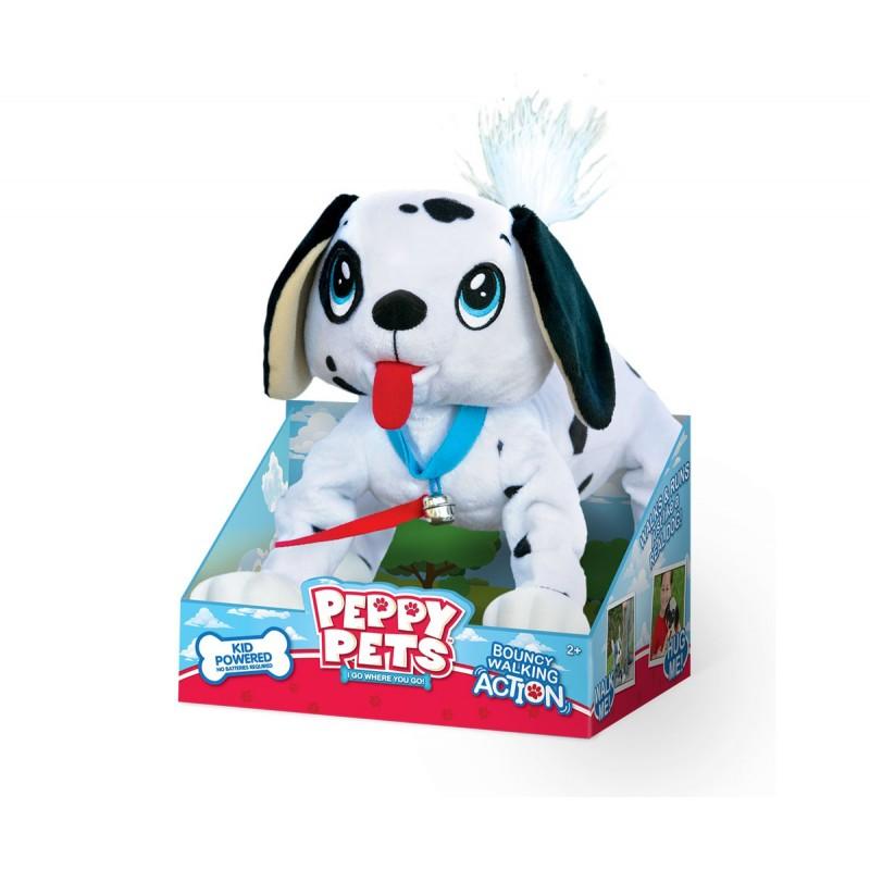 Peppy Pets - Плюшен любимец за разходка навън - Кученце Далматинец на супер цена 46.90 лв.