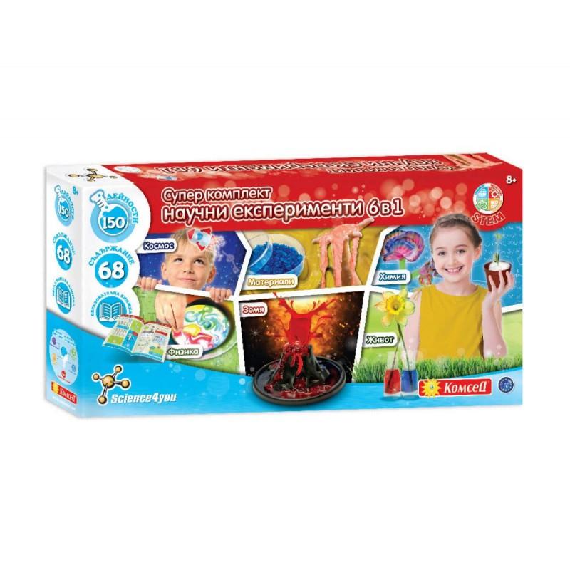 Образователна игра - Супер комплект научни експерименти 6-в-1 183009 на супер цена 45.90 лв.