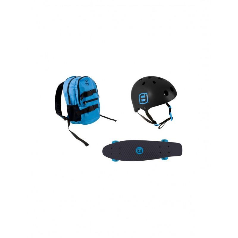 Комплект раница + каска + скейтборд, Funbee- OFUN442-G на супер цена 125.90 лв.