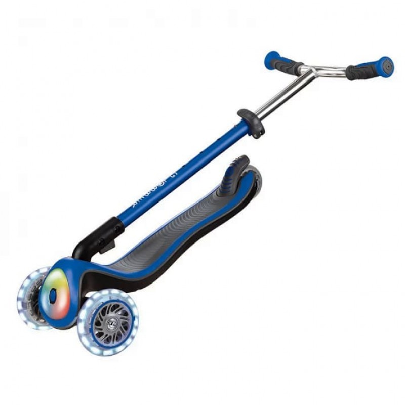 Тротинетка Elite Prime със светещи колела - синя на супер цена 219.90 лв.