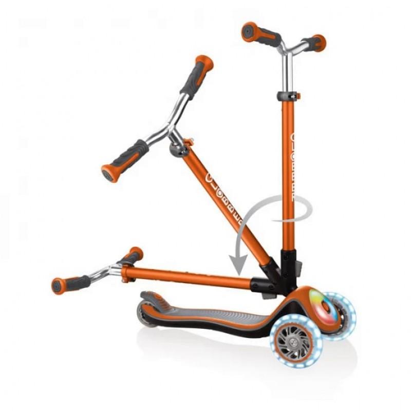 Тротинетка Elite Prime със светещи колела - оранжева на супер цена 219.90 лв.