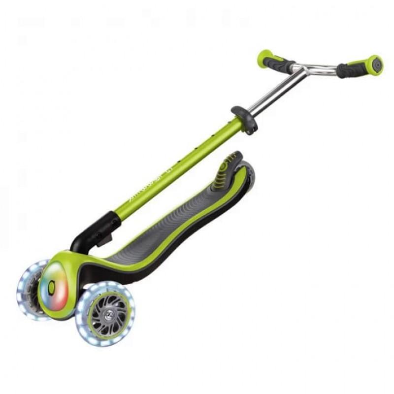 Тротинетка Elite Prime със светещи колела - зелена на супер цена 219.90 лв.