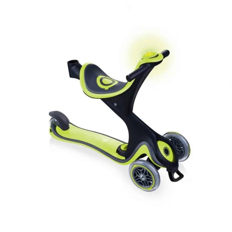 Тротинетка с родителски контрол 5 в 1 Globber Go Up Comfort Play - зелена на супер цена 259.90 лв.