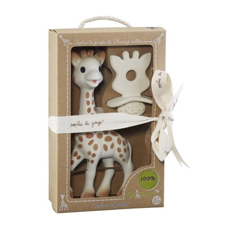 Подаръчен комплект Софи жирафчето и чесалка за дъвчене от колекцията So pure S616624 на супер цена 49.80 лв.