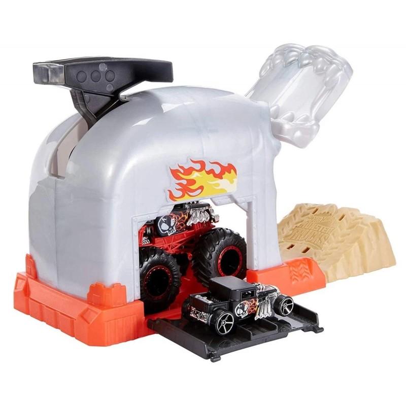 Hot Wheels: Monster Jam Гараж с изстрелвачка за голямо бъги, Team Bone Shaker 1720082_2 на супер цена 33.90 лв.