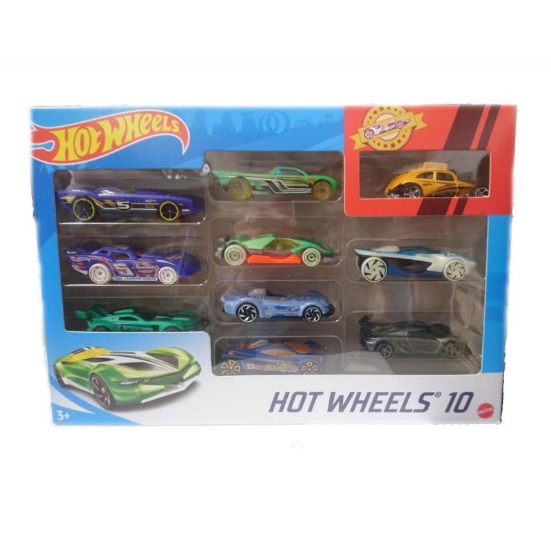 Hot Wheels - Комплект 10 броя метални колички 1:64, асортимент 1720110 на супер цена 31.90 лв.